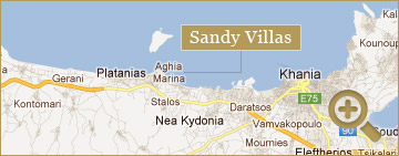 Chania Map Sandy Villas